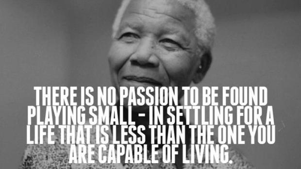 Mandela quote Passion